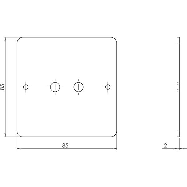 metroled dimmer plate cad
